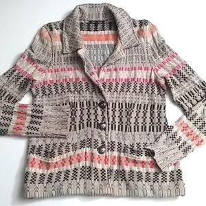 Nic + Zoe Tan Button Front Cardigan - L